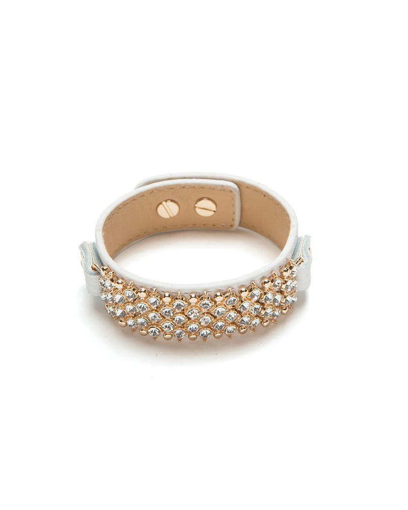 Cream Pave Glam Cuff