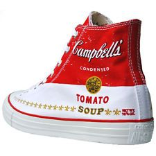 Converse All Star Chucks 147050 UE 40 UK 7 Andy Warhol Limited Edition Campbells