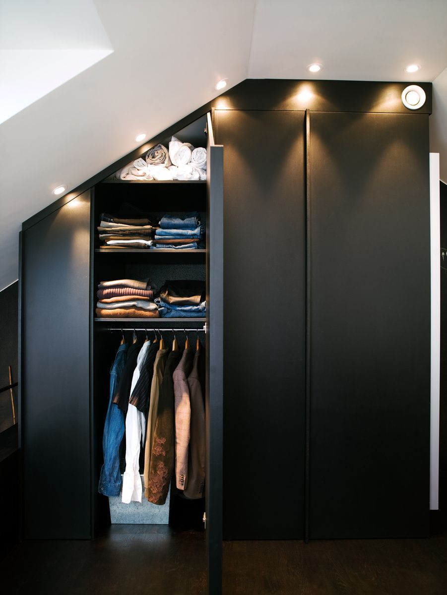 From a luxurious midcentury changing room to under-stair solutions, these closets show graceful ways to store clothes and kitchen gear.