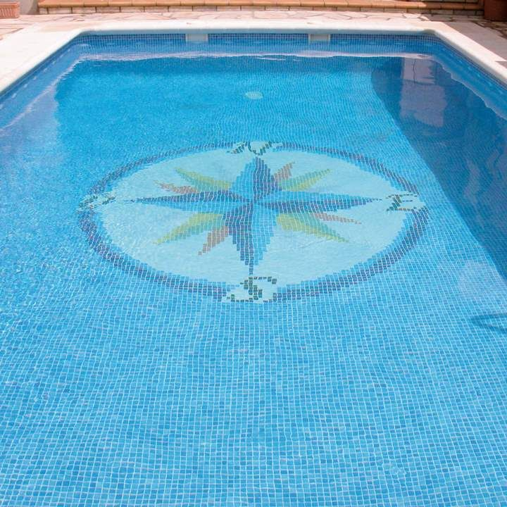 Swimming Pool Mosaic Anti Slip Outdoor Tiles Compass Design From