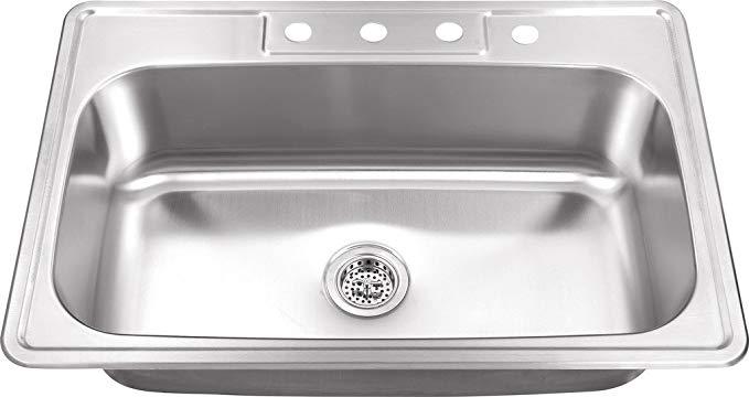 Msdp3322sb 33 In X 22 In 20 Gauge Stainless Steel Single Bowl