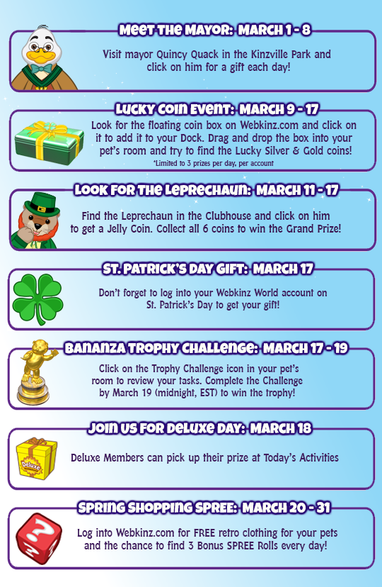 Webkinz Events Calendar  March 2017   WKN  Webkinz Newz. Webkinz Events Calendar  March 2017   WKN  Webkinz Newz   I Love