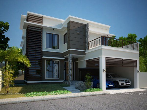 Modern home designs in two storey 5 house elevation for Affordable house design philippines