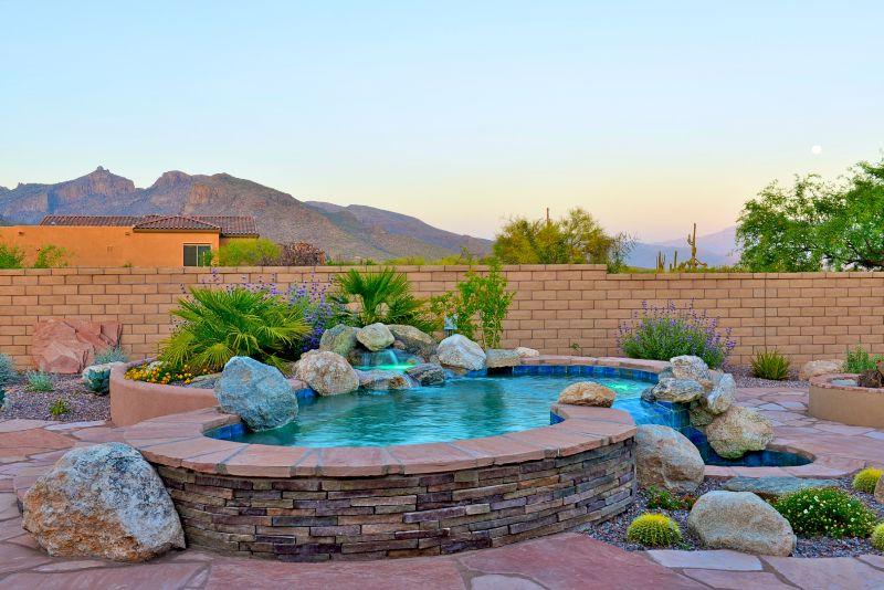 Natural Shaped Custom Swimming Spool  Tucson, Oro Valley, Marana   Custom  Pool Builder   Pools By Design, Tucson, AZ