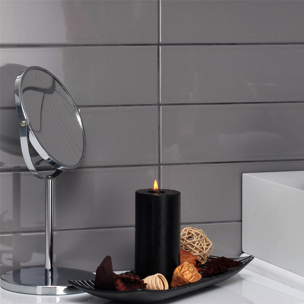 23++ Gray subway tile black grout ideas in 2021