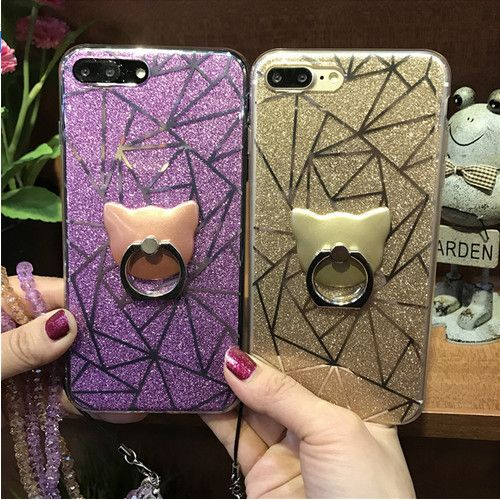 >> Click to Buy << Luxurious Shining Bling with Bear Stand and Crystal Strap TPU + PC Hard Case for iPhone 7 7 plus 6 6 s plus Back Cover #Affiliate