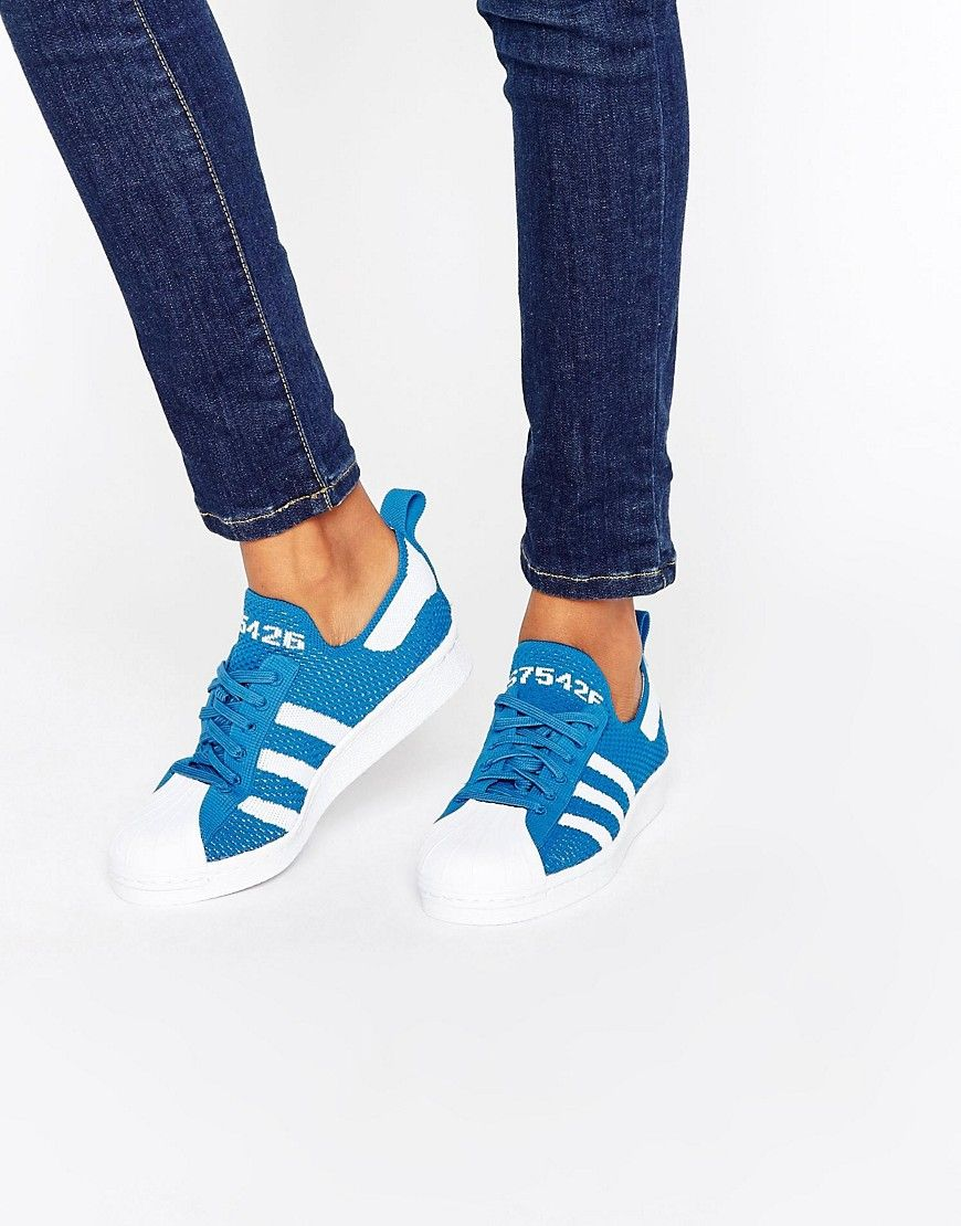 adidas superstar mujer azul claro