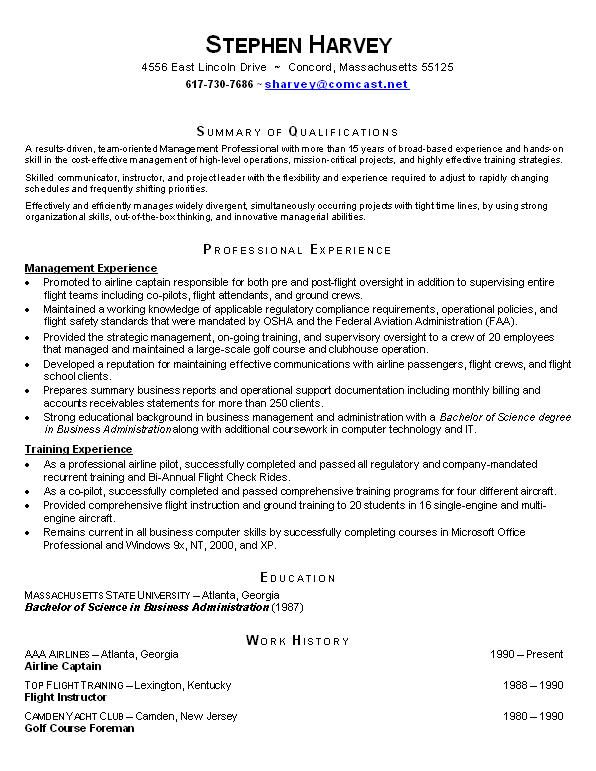 Chronological Resume Example For Students