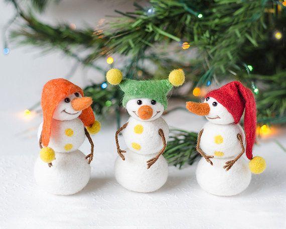 Decoración de Navidad conjunto de muñeco de por TheSecretGardenFelt