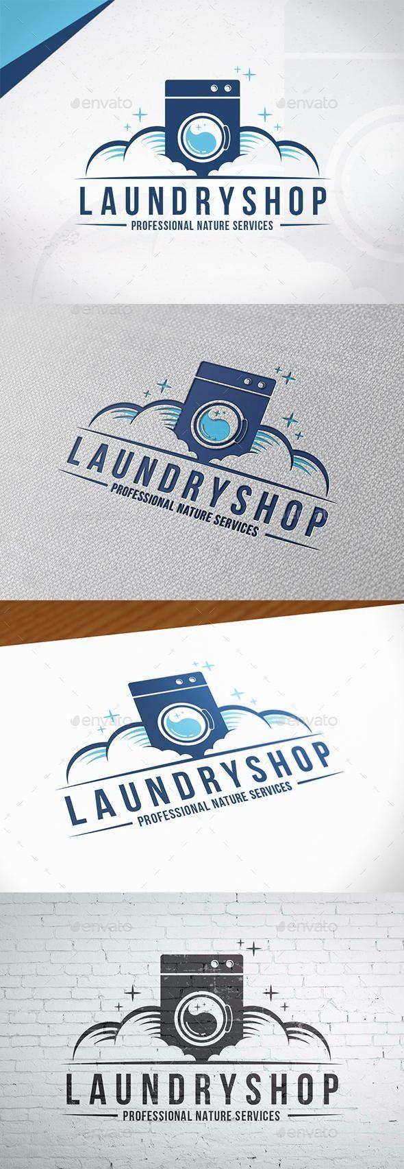 Clean Laundry Logo Design Negocio de lavandería