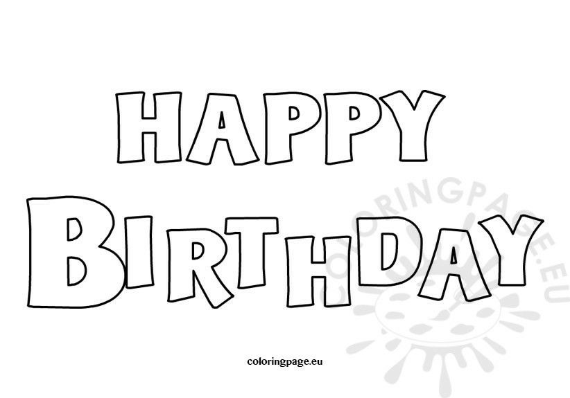 Pin by Pammy on Birthday | Birthday coloring pages, Happy ...