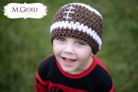 Football+Beanie++Sports+Photo+Prop+by+LNoelDesigns+on+Etsy,+$15.00