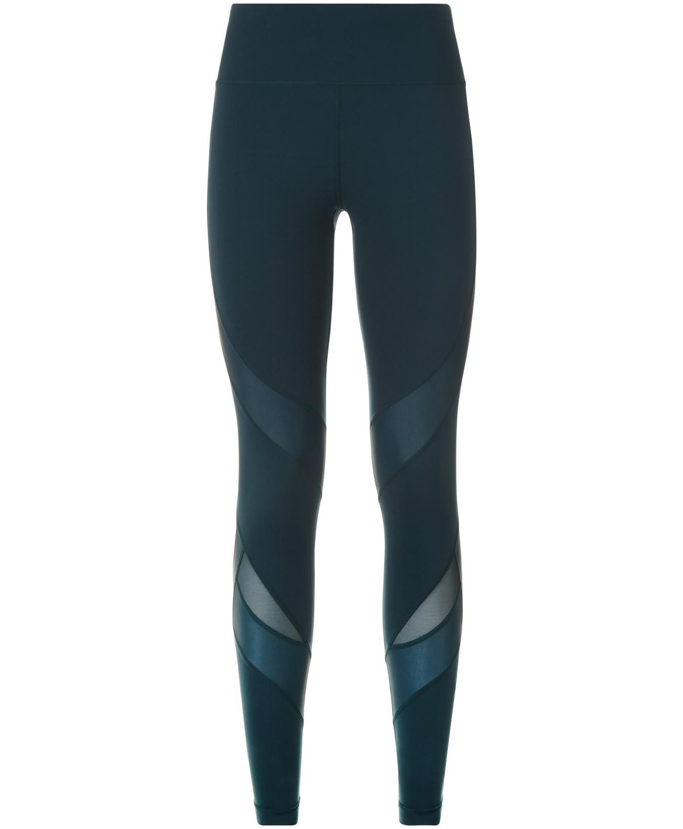 3542efb40102da Power Wetlook Mesh Workout Leggings - Midnight Teal | Women's Leggings |  Sweaty Betty
