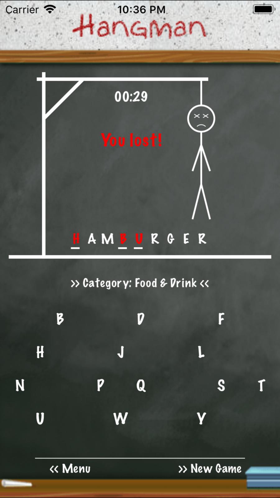 Hangman Classic Free WordEntertainmentiosPuzzle