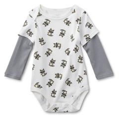 b1112b1ab Little Wonders Infant Boys  Long-Sleeve Bodysuit - Raccoons - Kmart ...