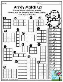 Multiplication Array Worksheets 3rd Grade 3rd Grade Math Third Grade Math Math Worksheets