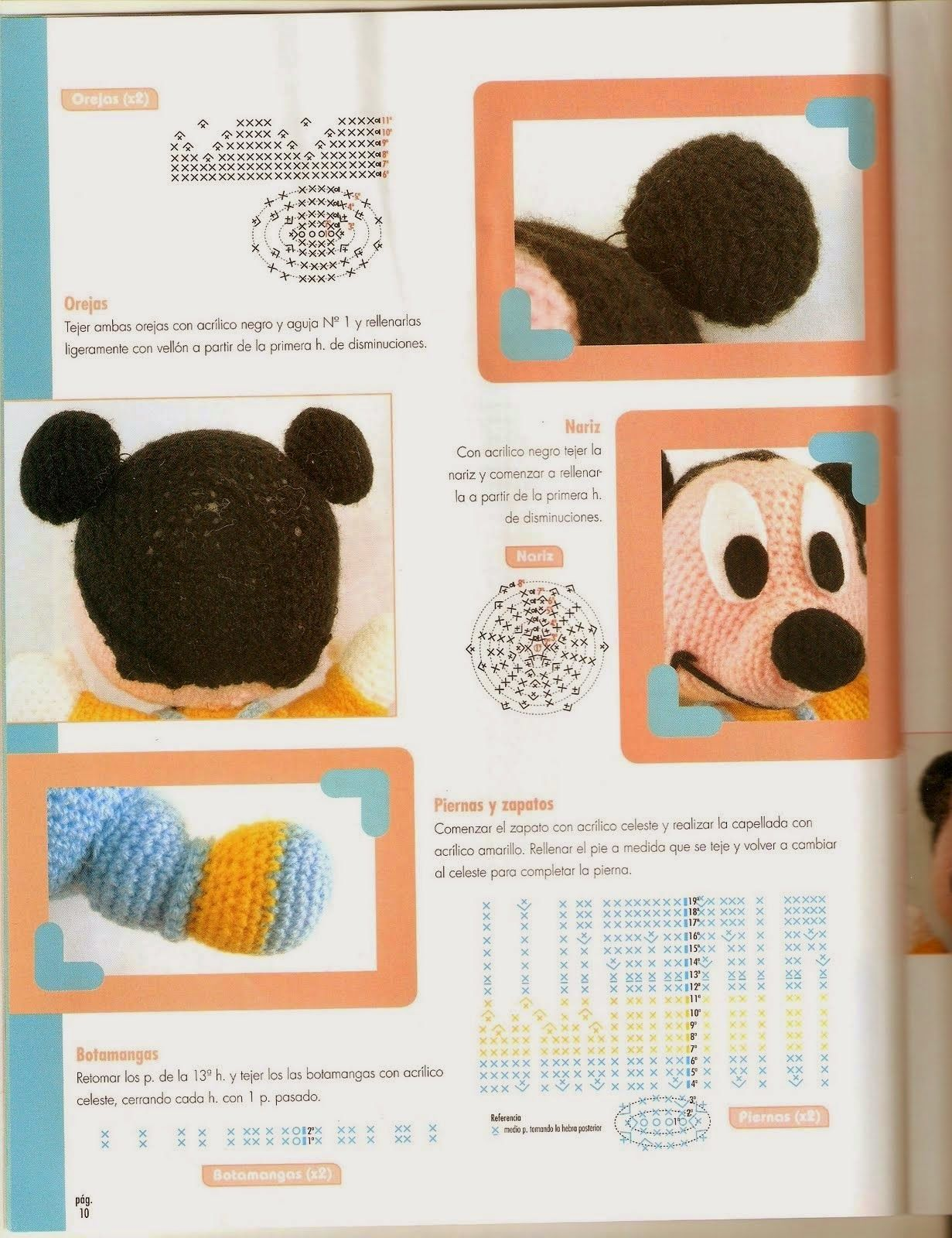 mickey mouse | AMIGURUMIS | Pinterest
