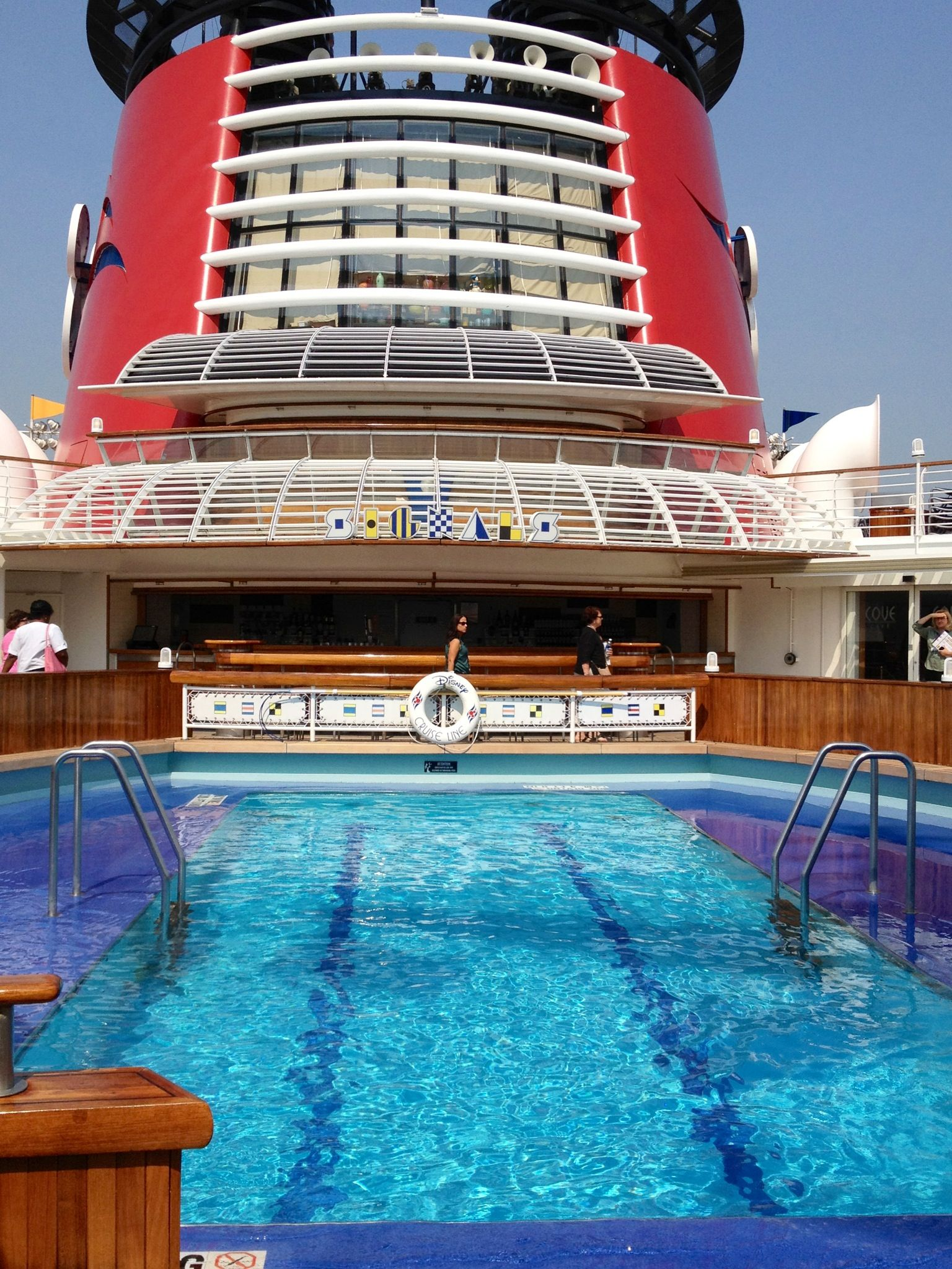 Pool Areas Aboard The Disney Magic Cruise Ship