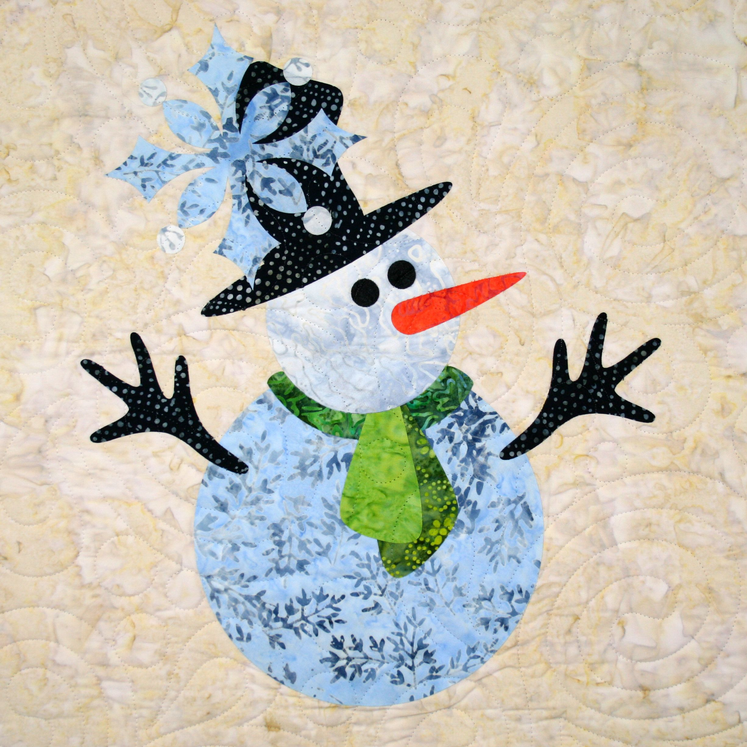 Let it Snow Snowman applique available at available at www.urbanelementz.com © Patricia E. Ritter