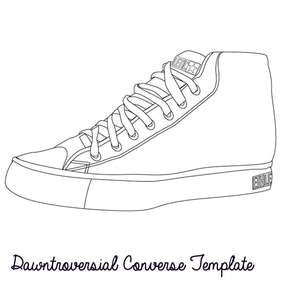 Converse Ation Starter Design Your Own Shoe Template Design