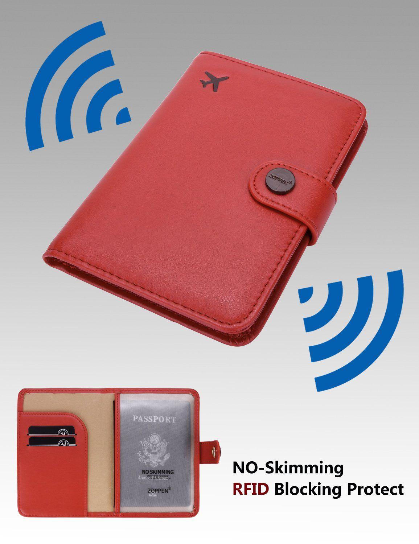 Cross pattern black Passport Holder Cover Wallet RFID Blocking Leather Card Case Travel Accessories for Women Men