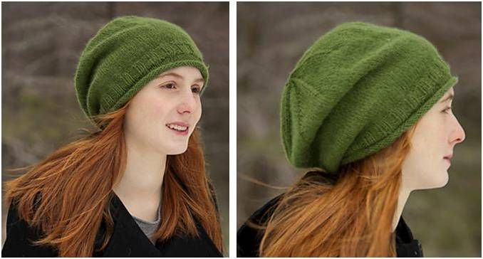 Simple Knitted Slouchy Hat Free Knitting Pattern Knitting