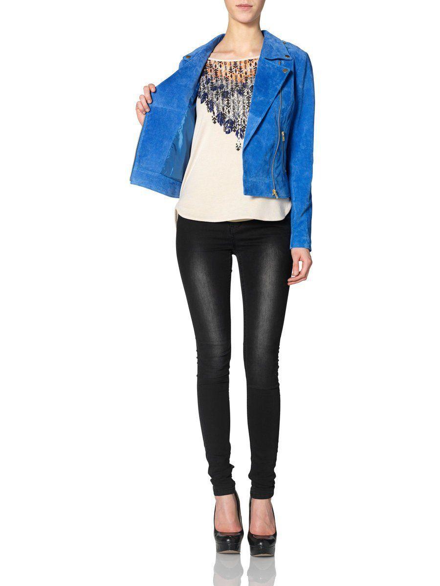Amazon.com: Vero Moda Jacket Siri Blue 10092834 Womens: Clothing