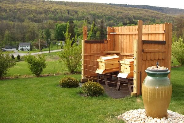Etonnant Hive Setup With Fence And Water. Perfect To Keep The Nosy Security In Our  Community From Seeing A Beehive In The Backyard. Doubtful They Wouldnu0027t  Notice A ...