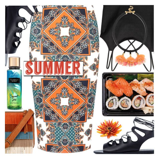 """""""Summer"""" by barbarela11 ❤ liked on Polyvore featuring T-shirt & Jeans, Ancient Greek Sandals, Dorothy Perkins and BaubleBar"""