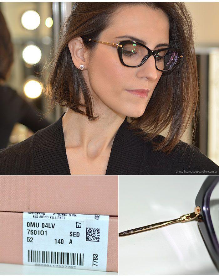 Óculos de grau Miu Miu  Mais um par de óculos de grau para a coleção da  Cinthia Ferreira c63b823a0b