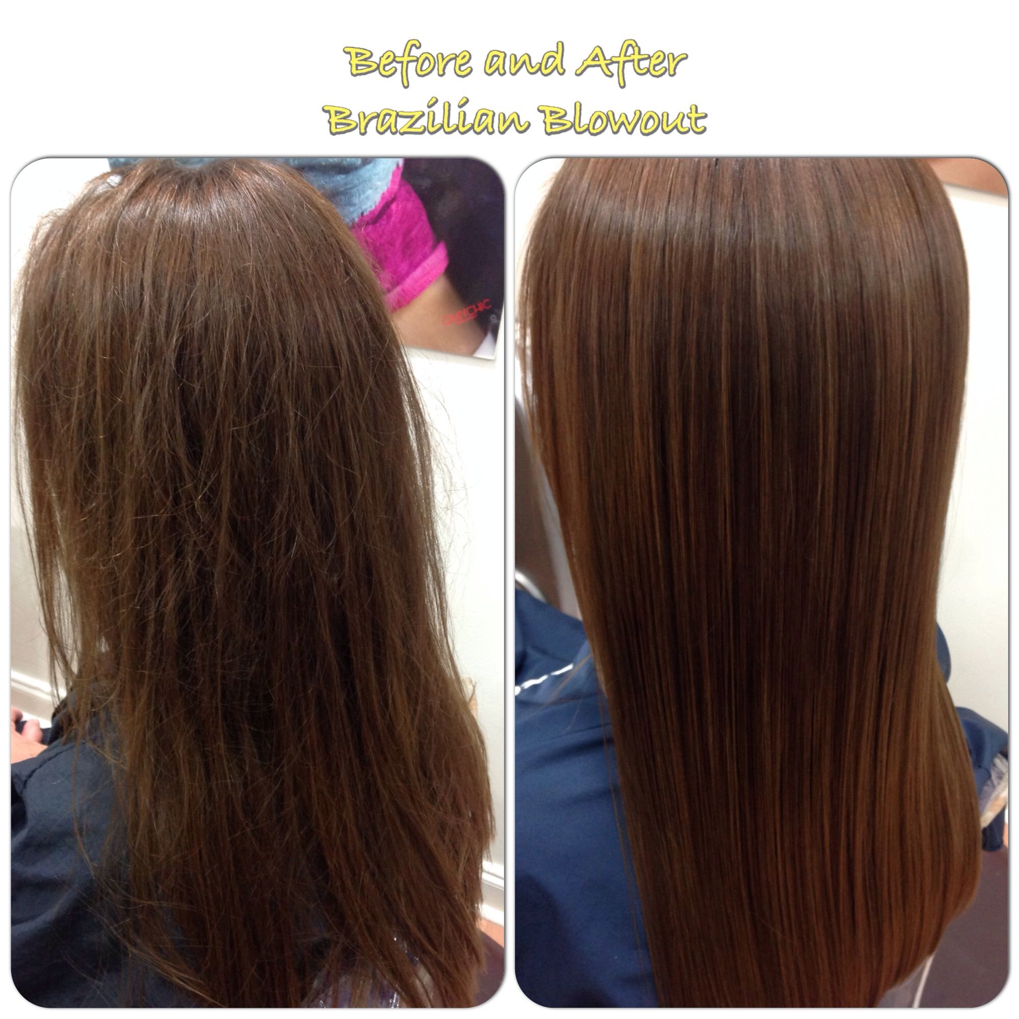 Brazilian Blowout Before And After By Melody Great Lengths