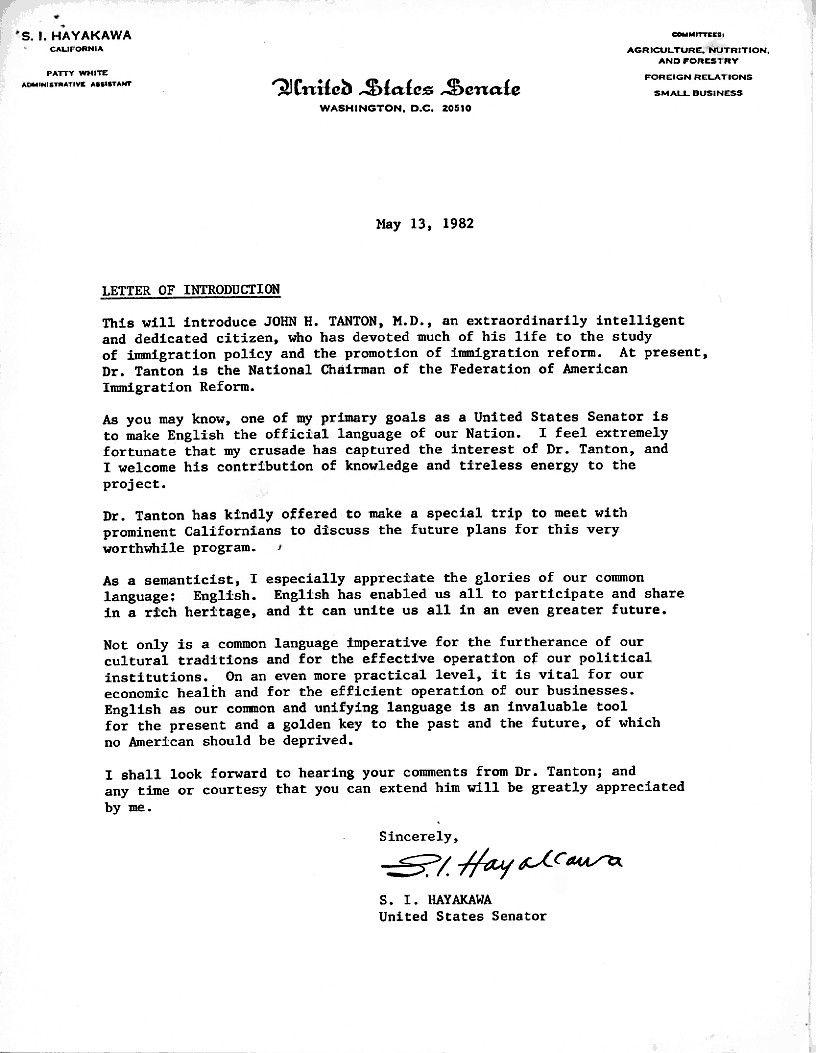 Sample Letter To Senator For Immigration Help - slideshare