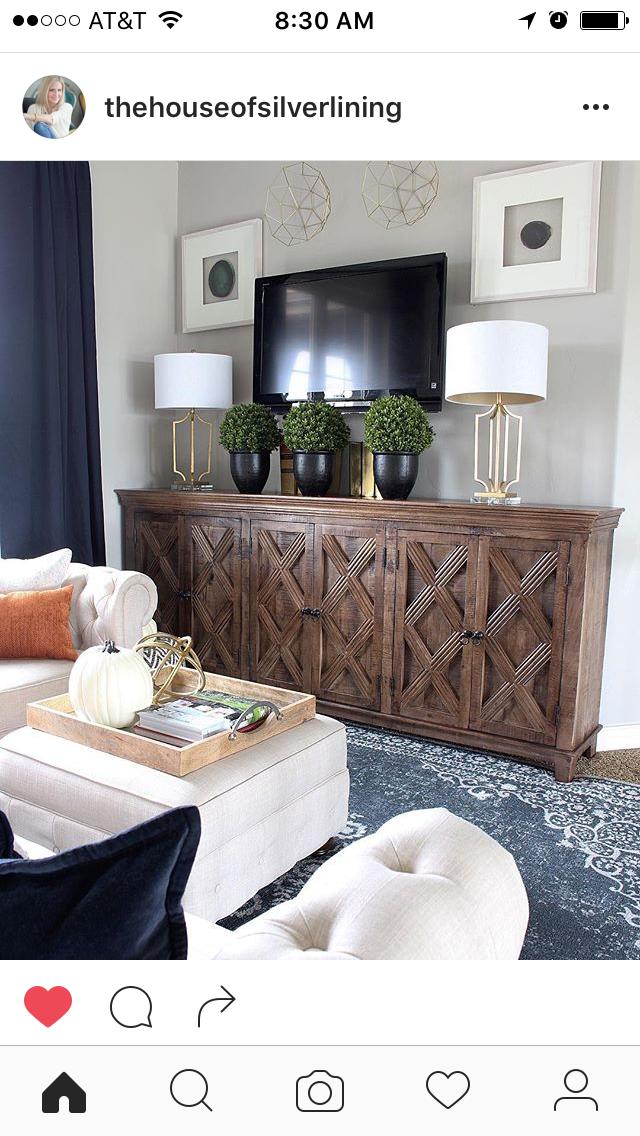A Modern Family Room Loft Featuring Beautiful Burnt Orange Pillows, Blue  Wool Rug, Brass Lamps, Agate Wall Art, Wall Decor From Homegoods Sponsored