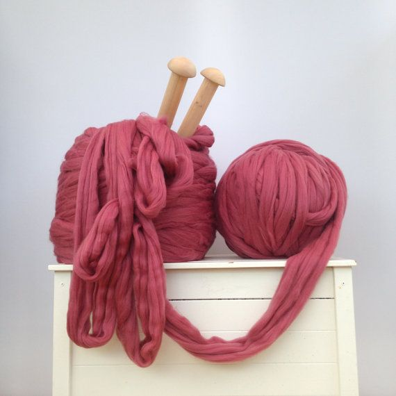 Big giant yarn. Merino bulky EPIC EXTREME arm knitting kit Chunky ...