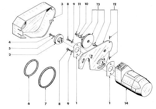 Unimat 3 Motor And Pulleys Assembly