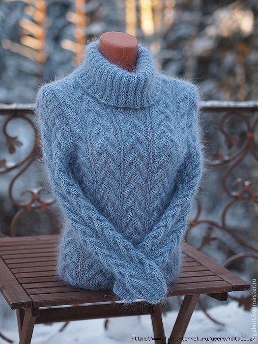 Оригинальный свитер | Вязание спицами | Pinterest | Sueters mujer ...