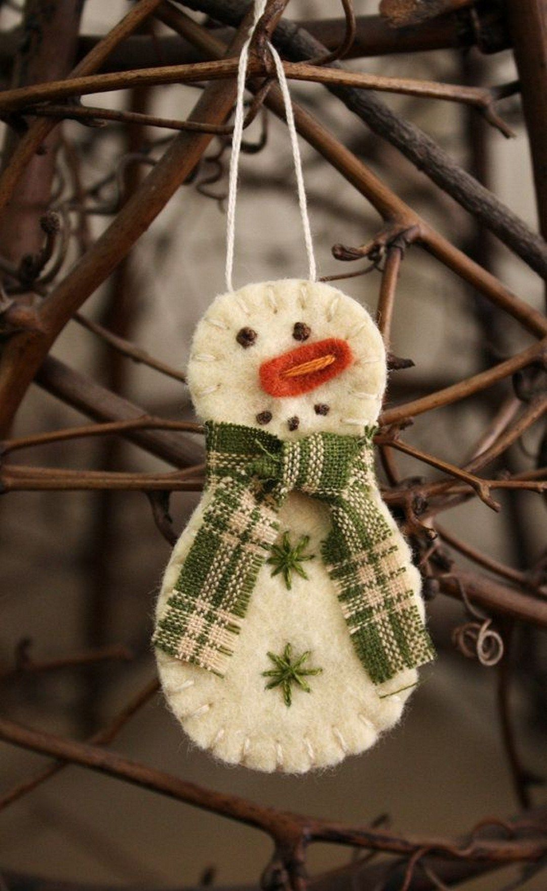 handmade christmas ornaments for home decorating country