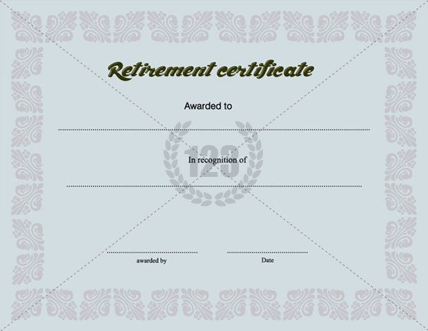 Precious Retirement Certificate Template Free Download Certificate