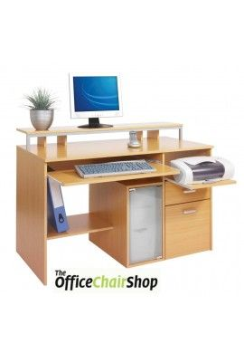 The Newman Multi Media Workstation Comes With Pull Out Keyboard Scanner Shelves File