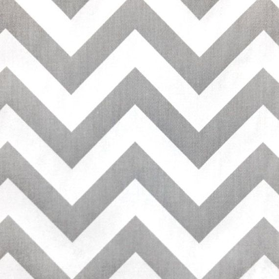 Premier Prints Zig Zag Storm Gray White Twill Chevron Stripe Home Decorating Fabric BTY