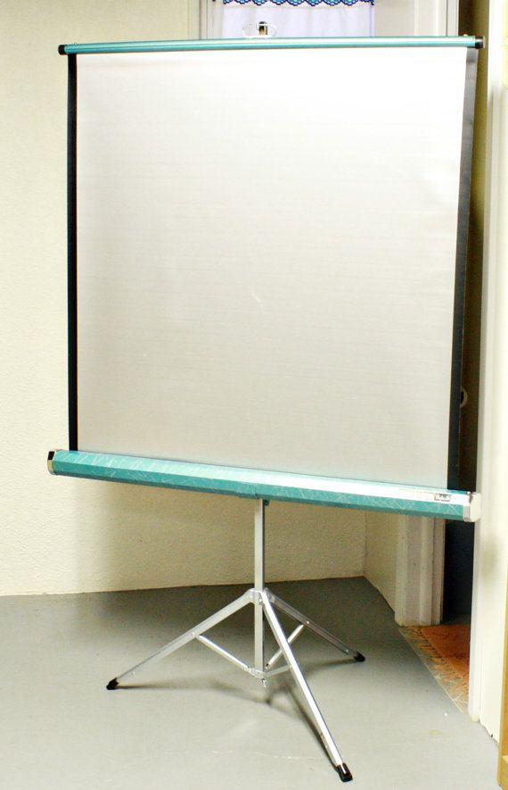 Vintage projector screen - Da-Lite Wonder-Lite - movie screen ...