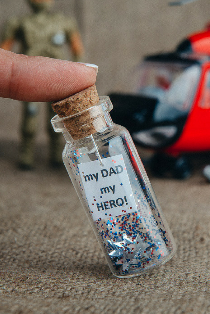 Dad Birthday Gift From Son For Grandfather Police Officer Gifts Fathers Day Daughter Daddys Ideas Message In Bottle