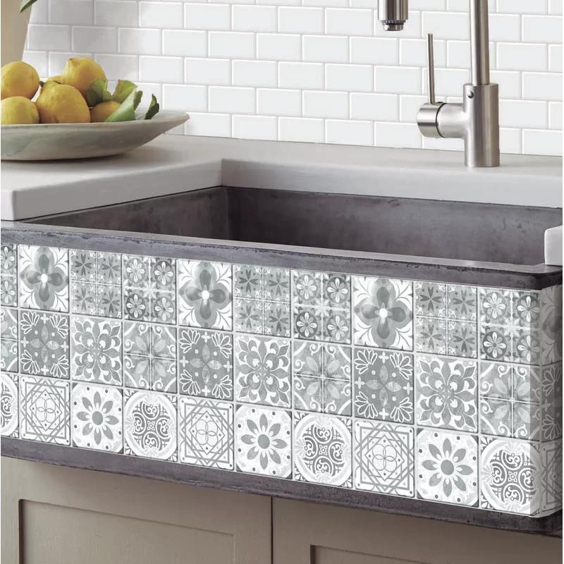11 X 11 Pvc Peel Stick Mosaic Tile In 2020 Stick On Tiles Self Adhesive Wall Tiles Metal Wall Panel