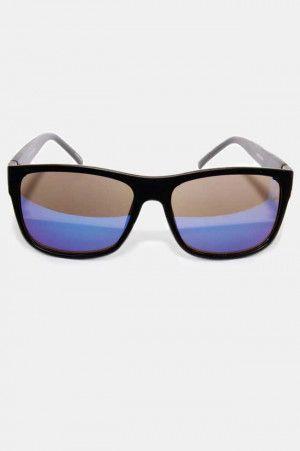 e7b8035356 Lentes de Sol con Marco Negro y Mica Azul. Si quieres ver mas #Lentes
