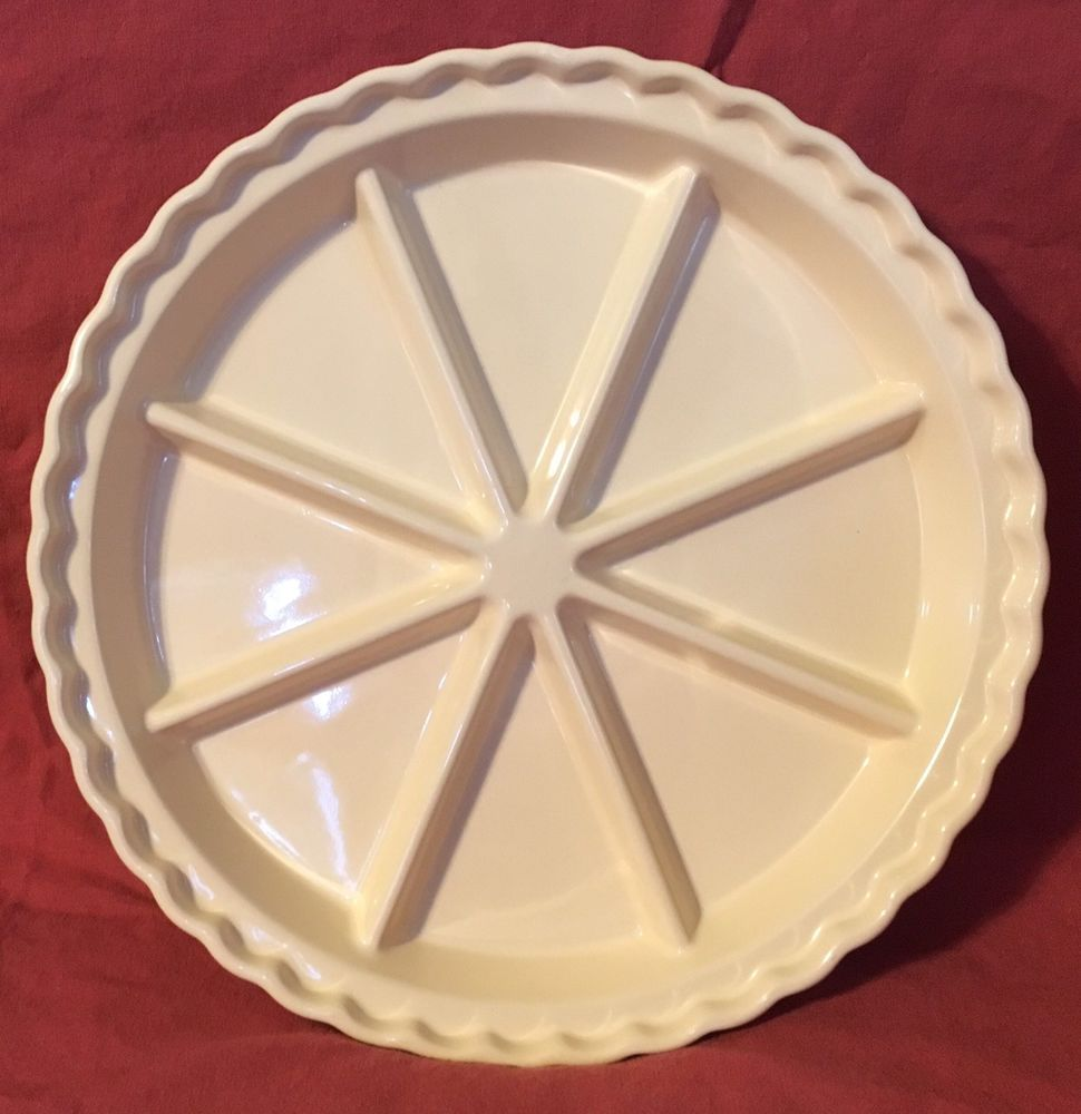 Chantal 8 Section Ceramic Baking Serving Pie Dish - Ivory ~ Excellent Condition   eBay & Chantal 8 Section Ceramic Baking Serving Pie Dish - Ivory ...