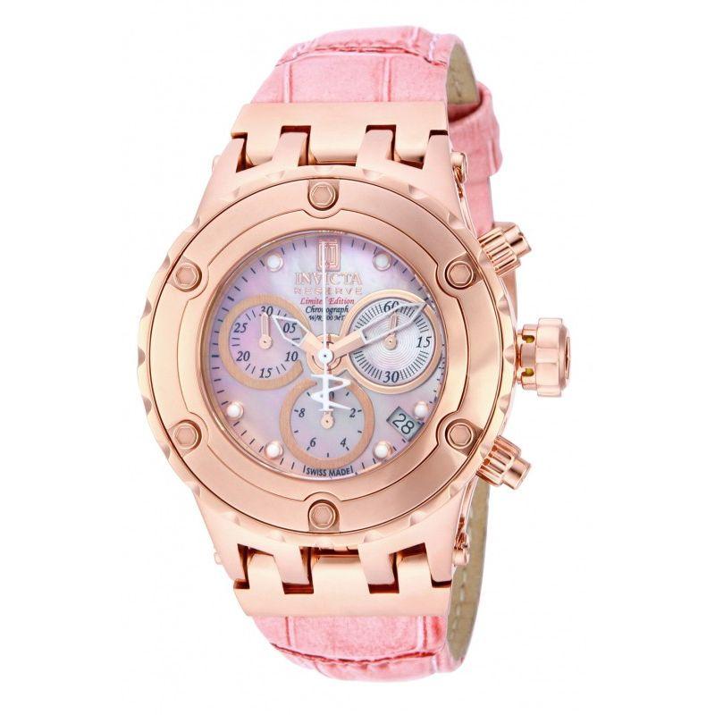 Invicta 14606 Jason Taylor Lady Lazada Malaysia Rose Gold Pink Chronograph Watch Purse Accessories