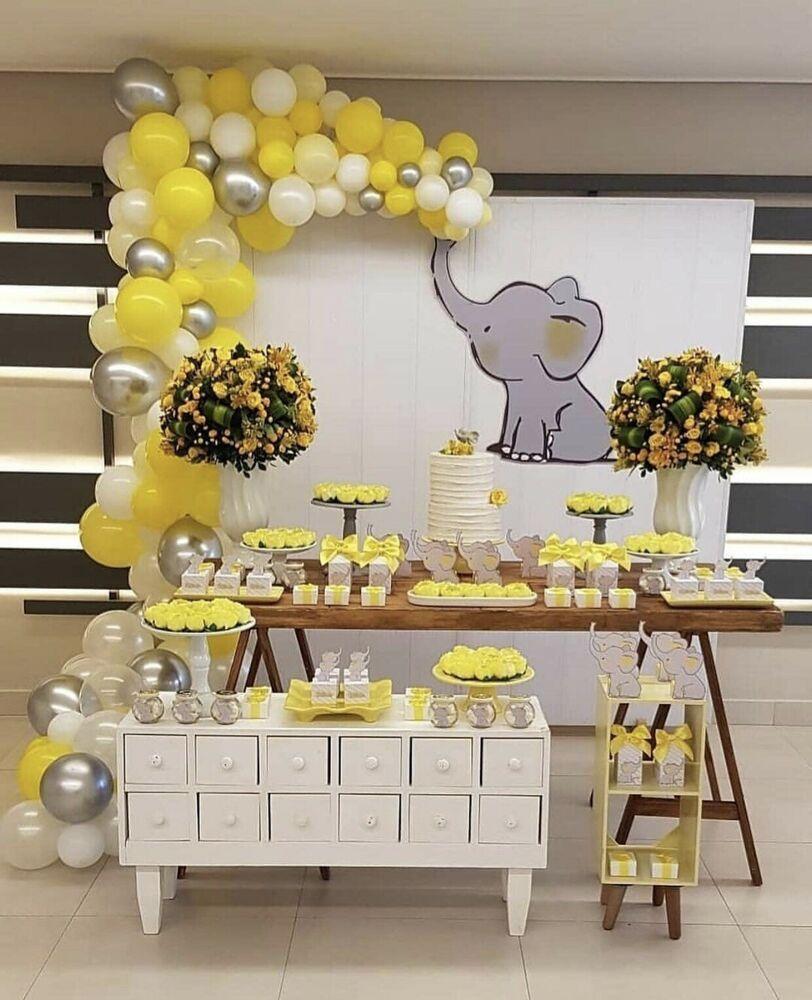 DIY Yellow, White, Silver Balloon garland KitParty