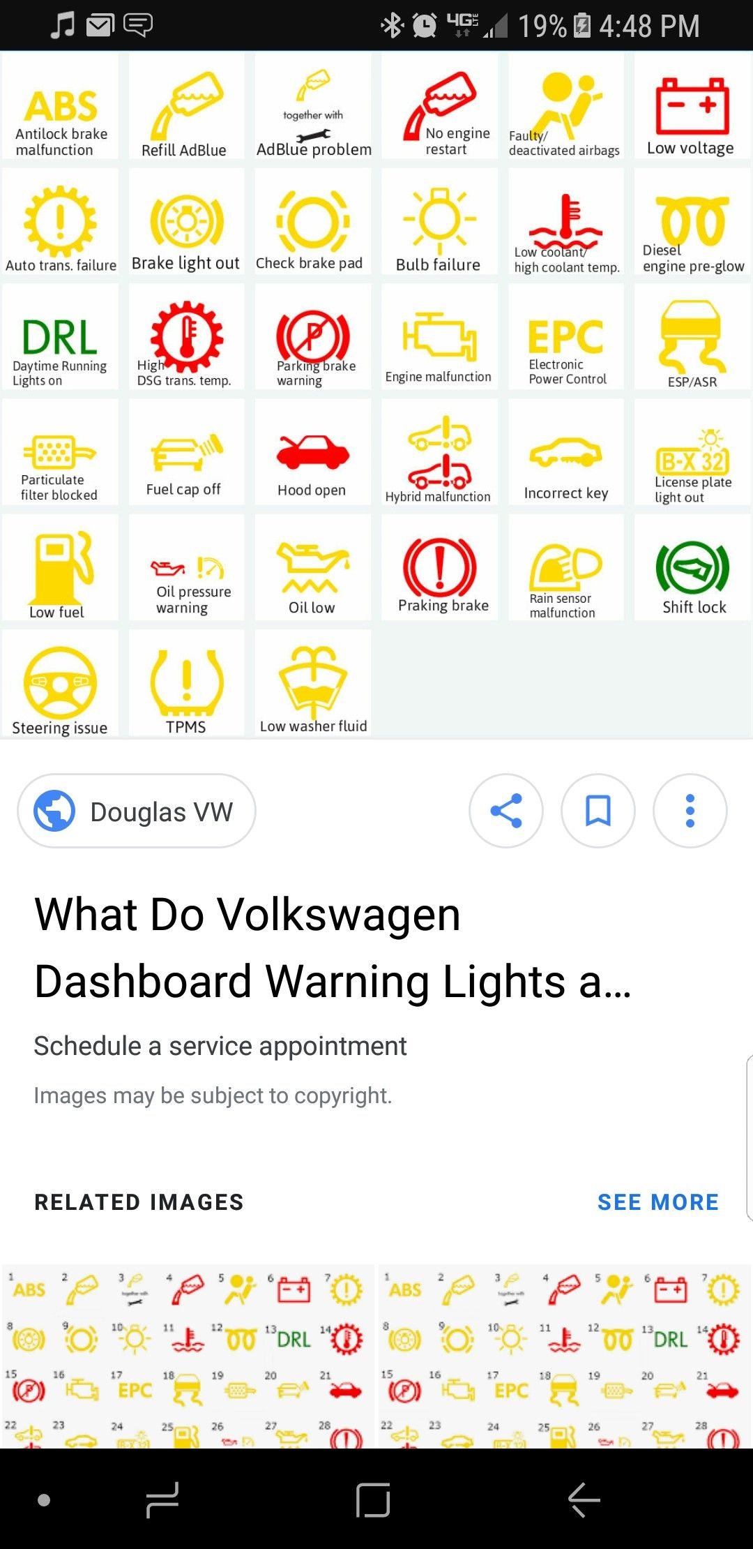 Volkswagen Dashboard Light Manual