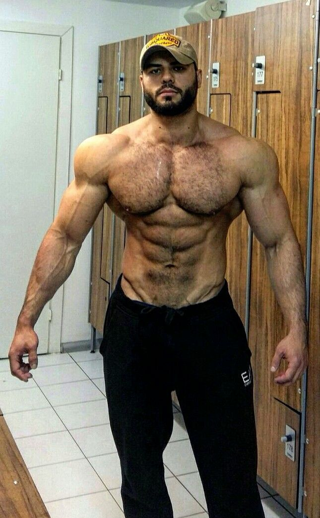 Muscular hairy chest photos