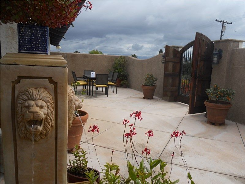 patio with southwest feel concrete patio landscaping